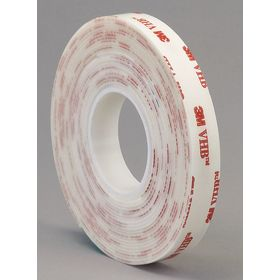 3M VHB 4950 VHB Foam Tape: Acrylic Foam Backing, Acrylic Adhesive, 1/2 in Overall Wd, 0.045 in Overall Thickness