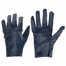 Work Glove: Coated Fabric Glove, Full Dip, Nitrile, Straight Cuff, Smooth, Blue, S Size, Std, ANSI Compliant Yes, 1 PR