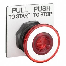 Schneider Electric Emergency Stop Push Button Operator: Mushroom Operator, Non-Illuminated, Maintained, Red, Plastic