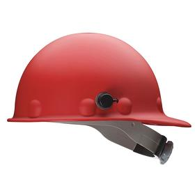 Honeywell Safety Hard Hat: Ratchet, With Side Slots, ANSI Impact Type Rating I, ANSI Electrical Class Rating C/G, 8-Point, Red