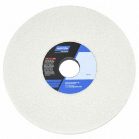 Norton Grinding Wheel for Hardened Steels: Aluminum Oxide, Coarse Relative Grit Grade, 7 in Wheel Dia, 3/4 in Wheel Thickness, 5 PK