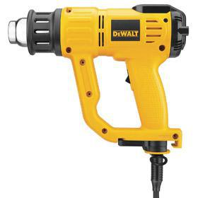 DeWalt Corded Heat Gun: 120V AC, Continuous Temp Settings, Variable Temp Setting, Nozzles Included, 13 A Current