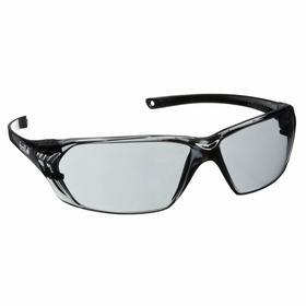 Bolle Safety Glasses: Gray, Wraparound Frame, Anti-Fog/Scratch Resistant, Black, ANSI Z87.1-2010/CSA Z94.3-2007