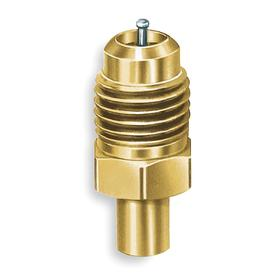 Access Valve: 1/4 in Access Valve, 1/4 in Pipe Size (Port 1), Male, SAE, 3/16 in Pipe Size (Port 2), 3 PK