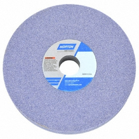 Norton General Purpose Grinding Wheel: Aluminum Oxide, 32A, 8 in Wheel Dia, 1/2 in Wheel Thickness, 80 Grit, 5 PK