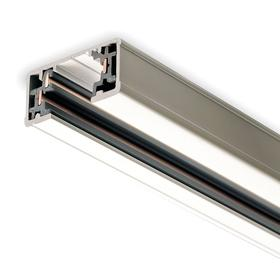 Mounting Track: 44 1/8 in Overall Lg, Individual Installation, Surface or Pendant Mounting, Aluminum, White