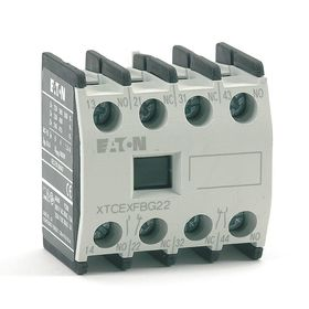 Eaton Auxiliary Contact Block: For IEC Contactors, 16 A, 220V DC/690V AC, 4 Auxiliary Contacts, 2 NC Auxiliary Contacts