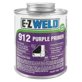 Primer: 16 fl oz Size, Can, CPVC/PVC, Purple, 32° F Min Op Temp, 110° F Max Op Temp