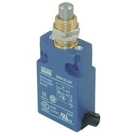 Pin Plunger Miniature Limit Switch: Zinc, 1NO/1NC Pole-Throw Configuration, Stainless Steel, 0.94 in Actuator Lg