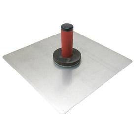 Marshalltown Stand for Mortar Application: Aluminum Hawk, 10 in Overall Lg, 10 in Overall Wd, Rubber, Rounded, Aluminum
