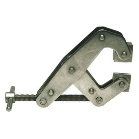 Corrosion-Resistant Cantilever Clamp: 2 in Max Opening Capacity, Stainless Steel, 1 1/8 in Open Throat Dp, V-Groove