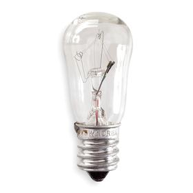 GE A-Shaped Incandescent Bulb: S6, E12, 6 W Watt, 50 lm, Clear, 2700 K/2999 K Color Temp, 3/4 in Bulb Dia