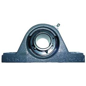 Base-Mount Bearing Unit: Inch, Black Oxide, Iron, Steel, Low, Std Duty, Set Screw, 1 3/8 in Bore Dia