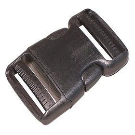 Side-Squeeze Buckle: Plastic, 3/4 in For Max Webbing Wd, 2 5/8 in Overall Lg, 13/16 in Overall Wd, 10 PK