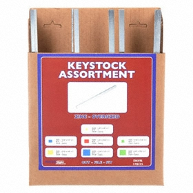 Key Stock Assortment: Rectangle, 7 Pieces