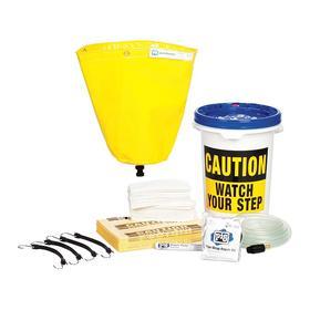 Pipe Leak Diverter: Pipe Leak Diverter Bucket Kit, 1 1/2 ft Diverter Wd, 1 1/2 ft Diverter Lg, 3/4 in Connection Size