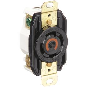 Hubbell NEMA Turn-Locking Female Receptacles' Corrosion Resistant: 4 Contacts, L14-30 NEMA Configuration, 120/250V AC