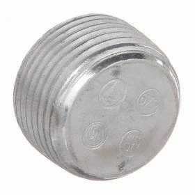 Haz-Location Recessed Plug: 1/2 in Trade Size, Aluminum, 5/8 in Overall Lg