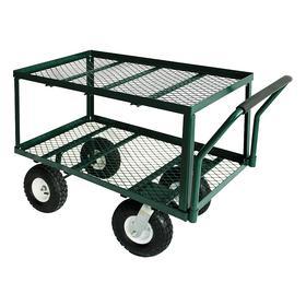 Wagon Truck: 550 lb Max Load Capacity, Powder Coated