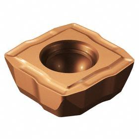 Sandvik Coromant Insert for Indexable-Tip Drill Bit: 08 Seat Size, Central, 0.8 mm Corner Radius, Medium Feed, LM, 10 PK