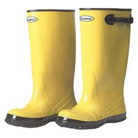 OverShoes: 16 Men's Size, Slip-On, Rubber, Yellow, 17 in Overall Ht, Water Resistant, Overboot, Men, Bar Grip, 1 PR