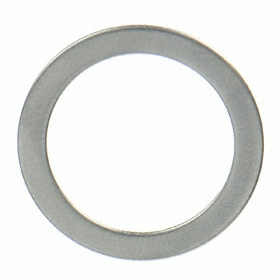 Round Shim for Shortening Screw Shoulders: 18-8 Stainless Steel, 0.033 in Thickness, 3/8 in ID, 37/64 in OD, 50 PK