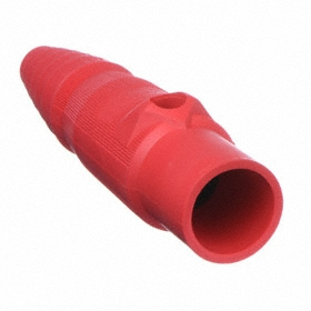 Hubbell Single Pole Connector: 400 A Current, 600V AC, Red, Male, For 16 Series Female, 18 Haz Material Indicator, Cable