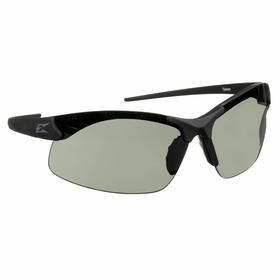 Edge Safety Glasses: Gray, Half Frame, Anti-Fog/Scratch Resistant, Black, ANSI Z87.1+2015/MCEPS GL-PD 10-12, Nylon, 5.5 in Arm Lg