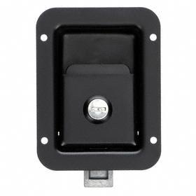 Push-to-Close Latch with Key-Locking Paddle: Powder Coated
