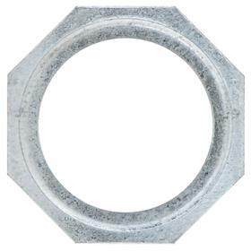 Hubbell Rigid Conduit Reducing Washer: 3 in to 1 1/2 in Reduction Size, Steel, Zinc Plated, Silver, Corrosion Resistant