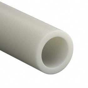 Round Tube: 4 1/2 in Outer Dia, 1 ft Lg, FDA Compliant, White, +/-0.160 in, 4 in Inner Dia