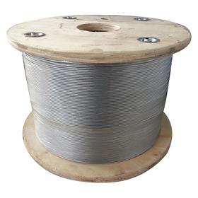 Wire Rope: 1/4 in Rope Dia, Galvanized Steel, 1 x 19, Strand, 1640 lb Max Load Capacity, 50 ft Overall Lg