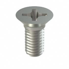 Flat Head Machine Screw: 18-8 Stainless Steel, Phillips, 10-32 Thread Size, 7/16 in Shank Lg, 100 PK
