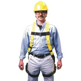 Honeywell Miller General Purpose Harness: 1 D-Rings, Vest, Polyester, 1 Back D-Ring, Steel, 400 lb Max Load Capacity, Mating