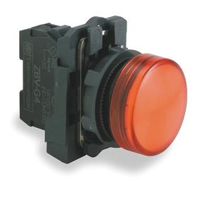 Schneider Electric Pilot Light: 120V AC, 2.13 in Overall Lg, Metal, Red, Includes Bulb, 1.65 in Overall Ht, Plastic, LED