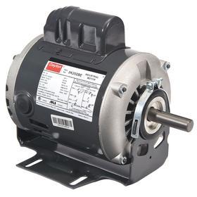 AC Motor: Single Phase, 1/4 hp Output Power, 1725 Nameplate RPM, 56 NEMA Frame Size, 115V AC/230V AC, ODP, CW/CCW