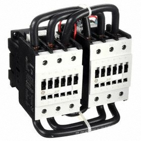 GE IEC Magnetic Contactor: 3 Poles, Single/Three Phase, 96 A Current Rating, 120V AC Control Volt, Reversing