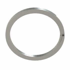 Spiral External Retaining Ring: Stainless Steel, WSM-25 Ring, For 1/4 in Shaft Dia, For 0.23 in Groove Dia, 10 PK