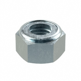 Nylon Insert Locknut: Steel, Zinc Plated, Class 8 Material Grade, M14 Thread Size, 22 mm Wd, 14 mm Ht, 50 PK