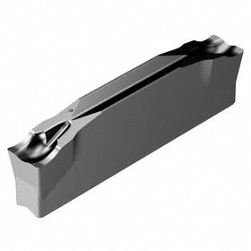 Sandvik Coromant 2-Edge Carbide Parting & Grooving Insert: CoroCut 1-2, 123 Insert, Neutral, Medium, E Seat Size, TiAlN, 10 PK