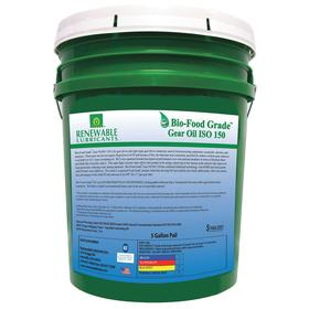 RLI Food Grade Gear Oil: Synthetic, 150 ISO Grade, 4 AGMA Grade, 20 cSt Viscosity @ 100° C, 5 gal Container Size, Bucket