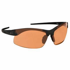 Edge Safety Glasses: Orange, Half Frame, Anti-Fog/Scratch Resistant, Black, ANSI Z87.1+2015/MCEPS GL-PD 10-12