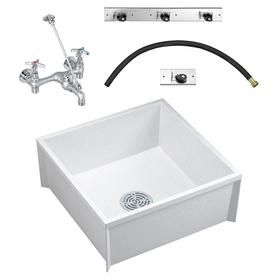 Ordinaire American Standard Square Sink With No Drop Mop Sink: 10 In Ht, 24 In