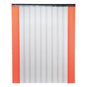 General Purpose Strip Door: Indoor & Outdoor, PVC, Bolt-On, 8 ft Overall Wd, 10 ft Overall Ht, 8 in Strip Wd, Smooth