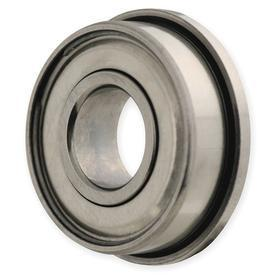Radial Ball Bearing: Double Shielded, Inch, 52100 Ring Material Grade, Steel, FR6 ZZ Bearing Trade, 3/8 in Bore Dia