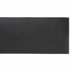 Silicone Strip: Plain, 6 in x 36 in Size (W x L), ASTM D2000 GE, 50A Shore Hardness, 750 psi Tensile Strength, Black