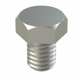 """18-8 Stainless Steel Hex Cap Screw: 18-8 Stainless Steel, 3/8""""-16 Thread Size, 1/2 in Shank Lg, Fully Threaded, 50 PK"""