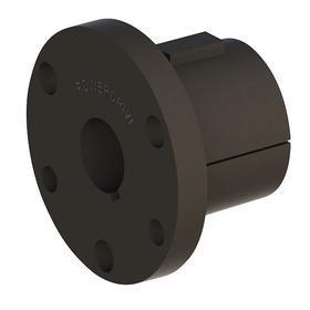 Split Taper Bushing: 1 7/16 in Bore Dia, Black Oxide, Iron, Q1 Bushing Size, 2 1/2 in Overall Lg, 3/16 in Keyway Dp