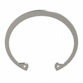 Internal Retaining Ring: Stainless Steel, Passivated, HO-243 Ring, For 2 7/16 in Bore Dia, For 2.584 in Groove Dia