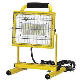 Portable Job Site Floor Lamp: For LED, 14 in Overall Ht, 120V AC, 5000 lm, 120°, Bulb Incl, 5 ft Cord Lg